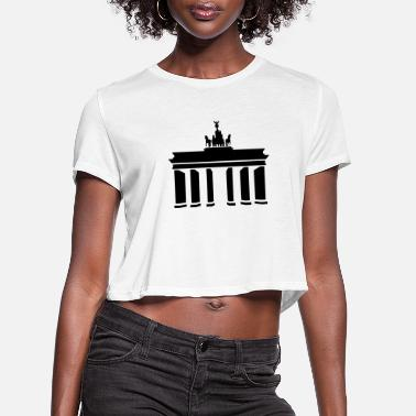 Brandenburg Brandenburg Gate - Women's Cropped T-Shirt