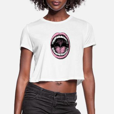 Blabber Big Mouth - Women's Cropped T-Shirt