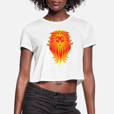 Lion Dog lion - Women's Cropped T-Shirt