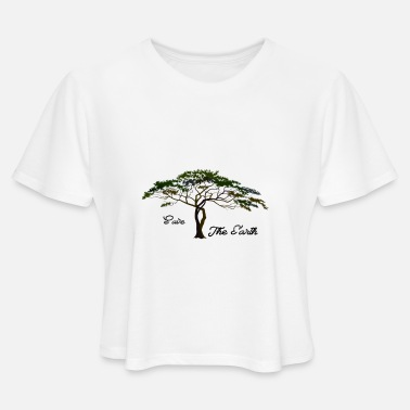 SAVE THE EARTH NATURE - Women's Cropped T-Shirt