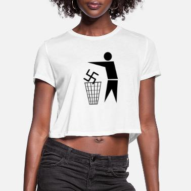 Fascism Fascism Is Trash - Women's Cropped T-Shirt