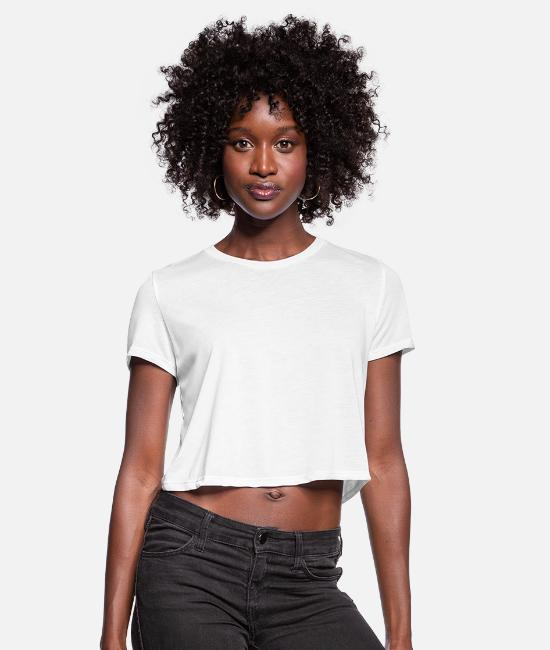 Martial Arts T-Shirts - fight club circle - Women's Cropped T-Shirt white