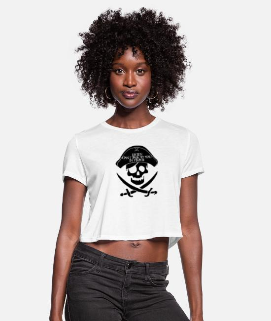 Pop Art T-Shirts - Private talks - Women's Cropped T-Shirt white