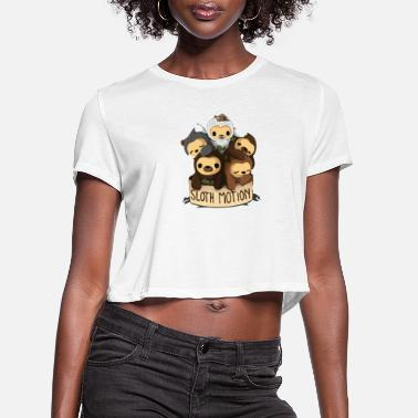 Motion SLOTH MOTION - Women's Cropped T-Shirt
