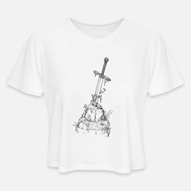 A Stone Sword in a Stone - Women's Cropped T-Shirt