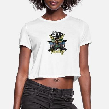 Retro Extrem Car tuning - Women's Cropped T-Shirt