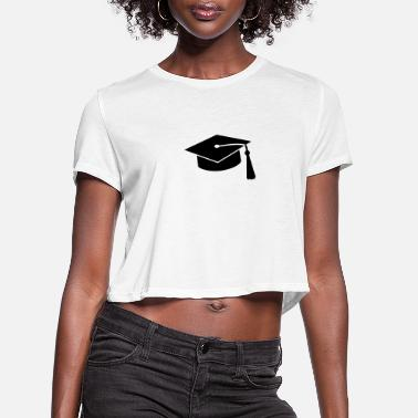 Diploma graduation hat v2 - Women's Cropped T-Shirt