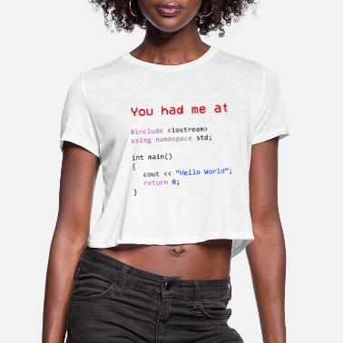 Computer Science Hello world First program in Computer science - Women's Cropped T-Shirt