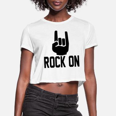 Record rock on Hands3 - Women's Cropped T-Shirt