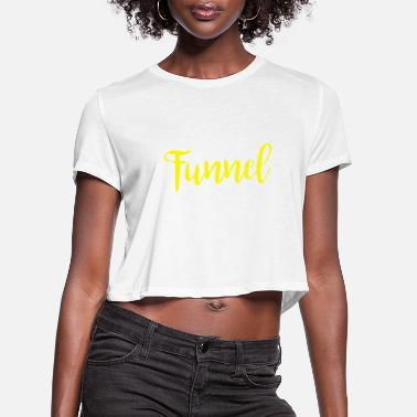 Weather I Suffer From Tunnel Vision Funny Severe Weather - Women's Cropped T-Shirt