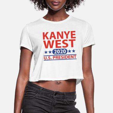 Us President West 2020 US President - Women's Cropped T-Shirt