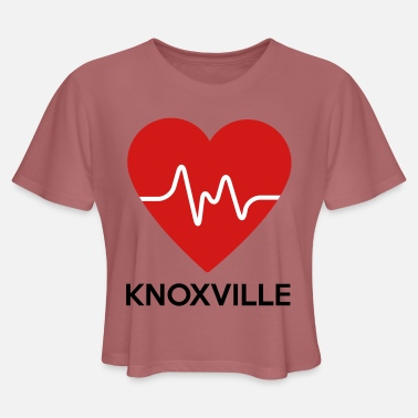 Knoxville Heart Knoxville - Women's Cropped T-Shirt