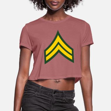 Corporate Corporal - Women's Cropped T-Shirt