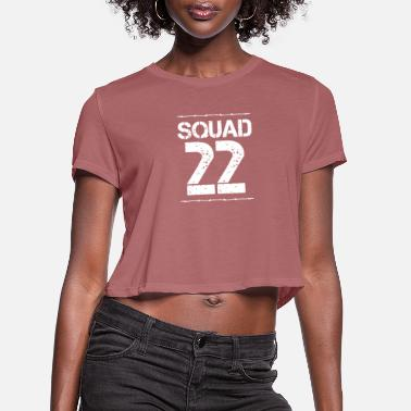 Number Team Verein Squad Party Crew member jga malle 22 - Women's Cropped T-Shirt