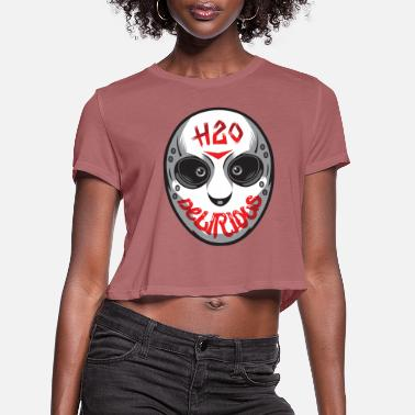 Delirious H20 Scary Mask Phone & Tablet Cases - Women's Cropped T-Shirt