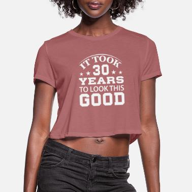 30s 30 - Women's Cropped T-Shirt