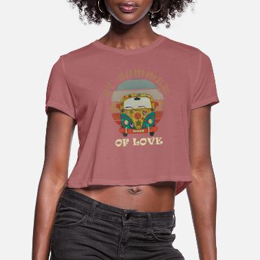 Vintage 1967 Hippie Van Vintage Retro 1967 Summer of Love - Women's Cropped T-Shirt