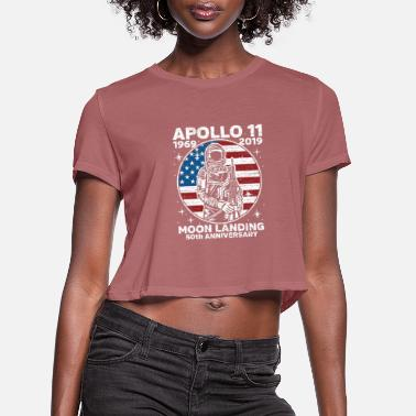 Moon Astronaut Moon Landing 50th - Women's Cropped T-Shirt