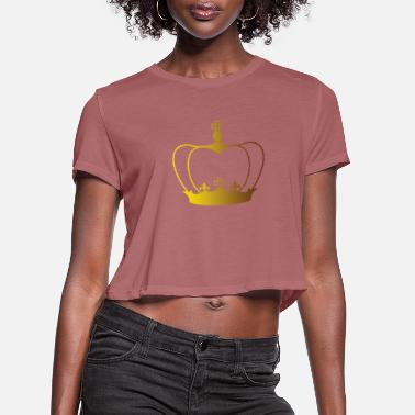 Her Majesty The Queen King & Queen - Women's Cropped T-Shirt