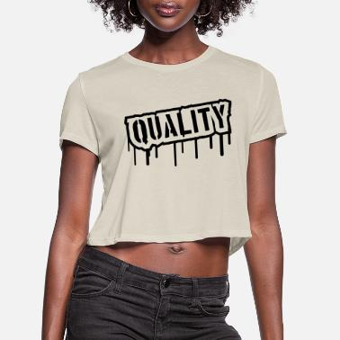 Valuable Quality Stamp Logo - Women's Cropped T-Shirt