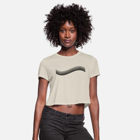 Swirl T-Shirts - Lines - Women's Cropped T-Shirt dust