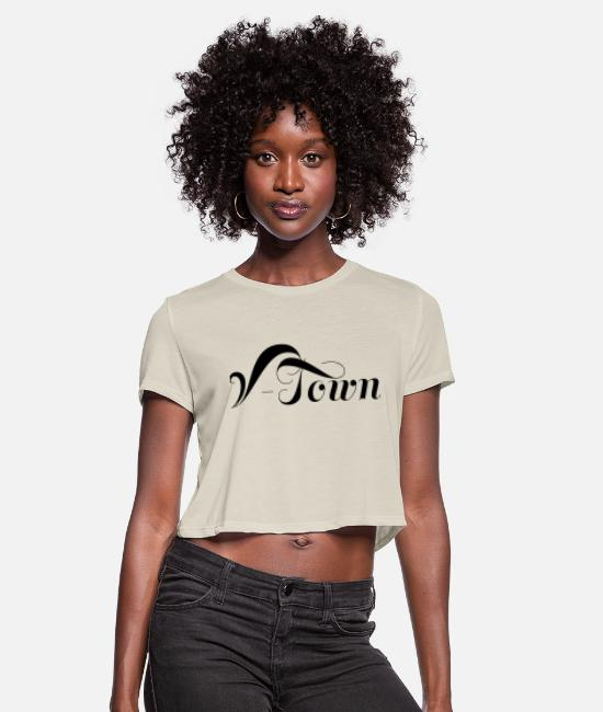 V-town Vancouver T-Shirts - Vancouver V-Town BC - Women's Cropped T-Shirt dust
