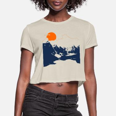 Mountains Mountains - Women's Cropped T-Shirt