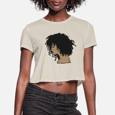 Afro My Afro - Natural Hair - Afrocentric Gift - Women's Cropped T-Shirt
