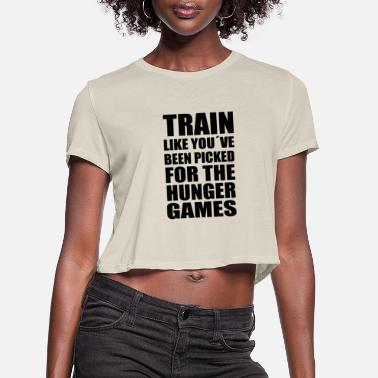 Hunger Train like you´ve been picked for the hunger games - Women's Cropped T-Shirt