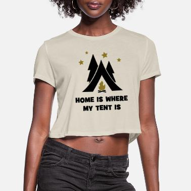Tent tent - Women's Cropped T-Shirt