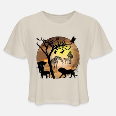 Teen t-Shirt,Animals in Forest Safari Fashion Personality Customization