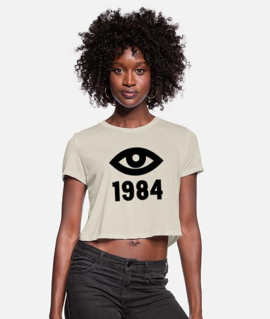 Social T-Shirts - Orwell 1984 - Women's Cropped T-Shirt dust