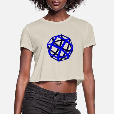 3d 3D - Women's Cropped T-Shirt