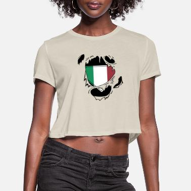Schland Proud Italian flag - Awesome Italian flag t - sh - Women's Cropped T-Shirt