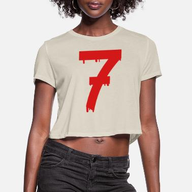 Luck lucky number seven - Women's Cropped T-Shirt