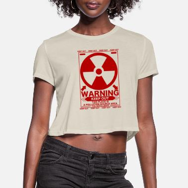 Radioactive Radiation_S - Women's Cropped T-Shirt