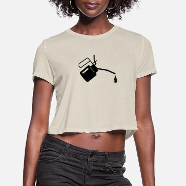 Oil An oil can and oil drop - Women's Cropped T-Shirt