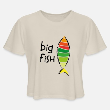 Big Fish - Women's Cropped T-Shirt