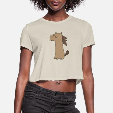 Pony Stall PONY - Women's Cropped T-Shirt