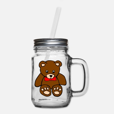 Bear Teddy Bear - Mason Jar