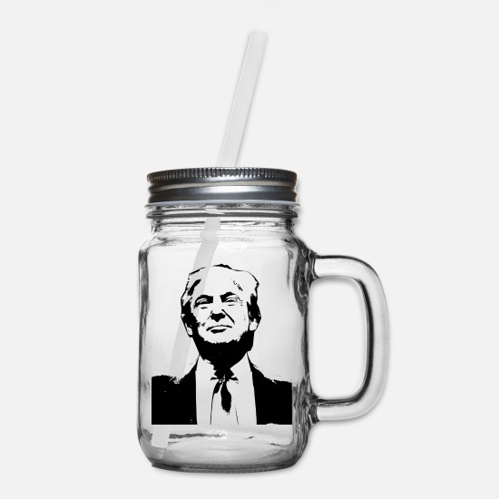 Trump Mugs & Drinkware - Donald Trump - Mason Jar clear