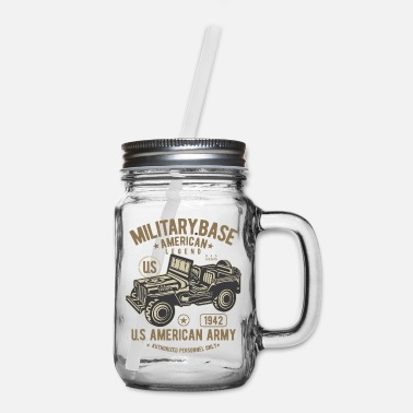 Army American Army Car 2 - Mason Jar