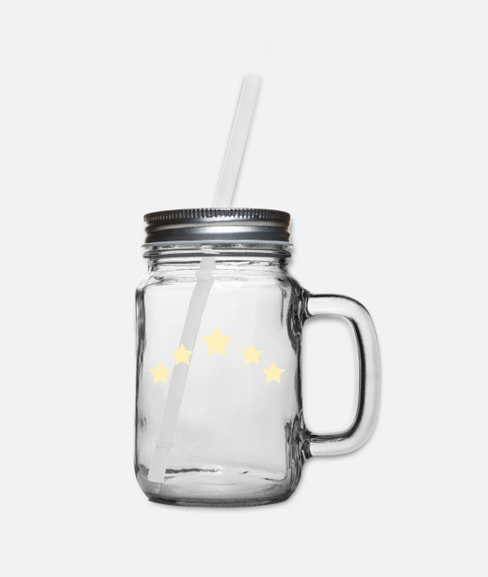 Sters Mugs & Cups - stars - Mason Jar clear