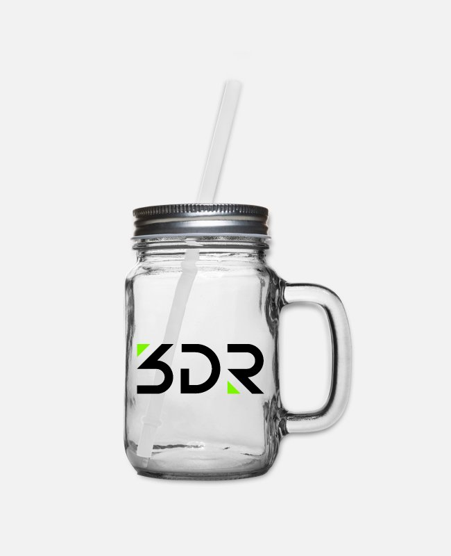 3dr Mugs & Cups - 3dr logo - Mason Jar clear