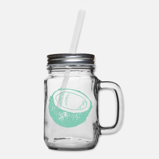 Coconut Mugs & Drinkware - coconut - Mason Jar clear