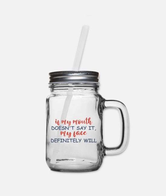 Quote Mugs & Cups - Funny Shirts | Funny Shirts Humor | Funny Quotes - Mason Jar clear