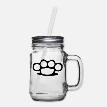 Brass Brass Knuckles - Mason Jar