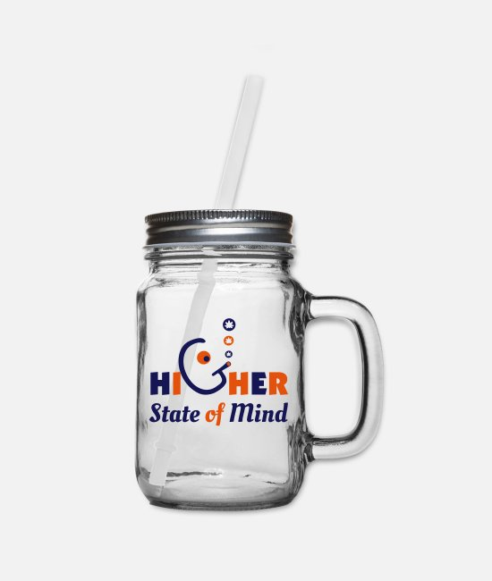 Ganjaism Mugs & Cups - Higher State of Mind - Mason Jar clear