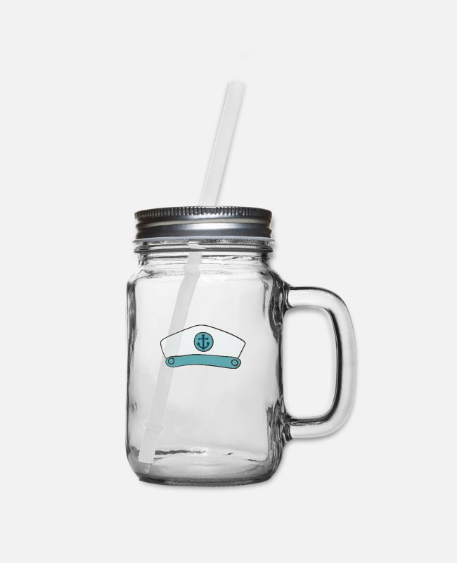 Sail Boat Mugs & Cups - skipper - Mason Jar clear