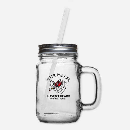 Parker Mugs & Drinkware - Petter parker havent heard of him in years…. - Mason Jar clear
